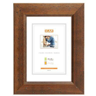 Ramka na zdjęcia KORA 18 x 24 cm brązowa drewniana