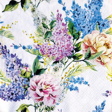 Serwetka SPRING LILAC 33 x 33 cm 20 szt.  PAW DECOR COLLECTION