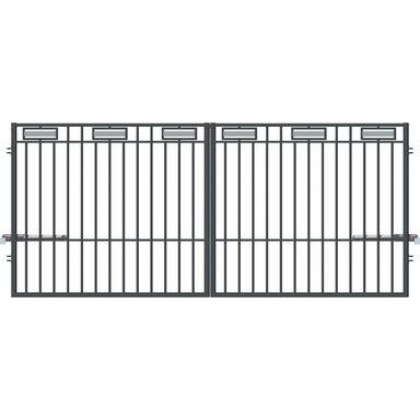 Brama dwuskrzydłowa ARGOS 2 350 x 150 cm z automatem POLARGOS