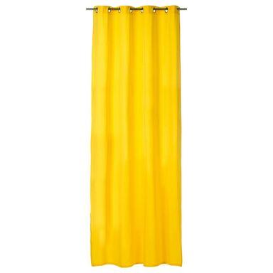 Zasłona gotowa ELEMA  kolor Żółty 140 x 280 cm Kółka 205 g/m²  INSPIRE
