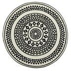 Dywan CIRCLE biały 100 x 100 cm wys. runa 9 mm MULTI-DECOR
