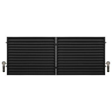Brama dwuskrzydłowa KRETA 400 x 150 cm z automatem POLBRAM