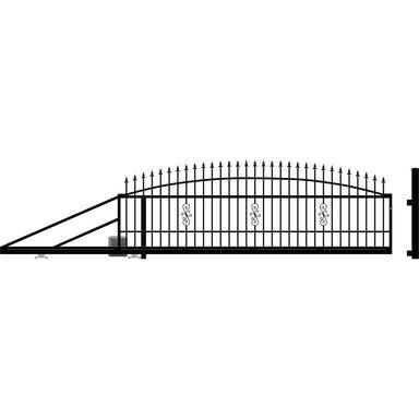 Brama przesuwna z automatem PALERMO 410 x 144 cm Lewa POLARGOS