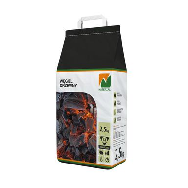 Węgiel drzewny NATERIAL 2.5 kg