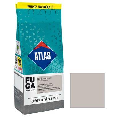 Fuga ceramiczna 034 jasnoszary 2 kg ATLAS