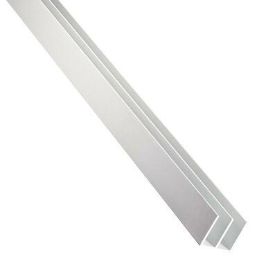 Eownik aluminiowy 2.6 m x 16 x 12 mm anodowany srebrny