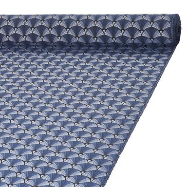 Tkanina na mb GALICE niebieska szer. 140 cm