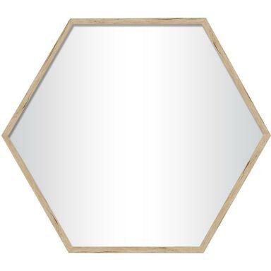 Lustro Heksagon brzoza 37 x 38.5 cm