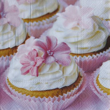 Serwetka LOVELY MUFFIN 33 x 33 cm 20 szt.  PAW DECOR COLLECTION