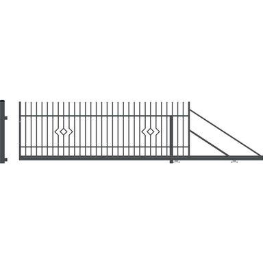 Brama przesuwna prawa LILA 400cm POLARGOS