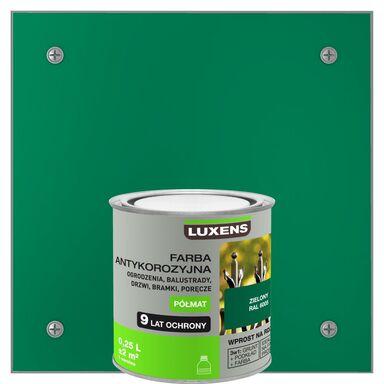 Farba antykorozyjna 0.25 l Zielony Półmat LUXENS