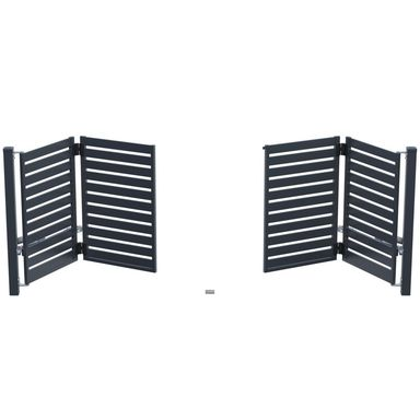 Brama uchylna łamana SZAFIR 400 x 150 cm z automatem POLARGOS