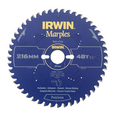 Tarcza do pilarki tarczowej 216MM/48T M/30 IRWIN MARPLES