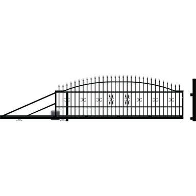 Brama przesuwna z automatem ELIZA III 400 x 144 cm lewa POLARGOS