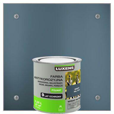 Farba antykorozyjna 0.25 l Grafitowy Półmat LUXENS