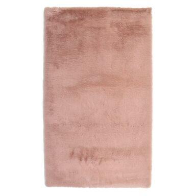 Dywan pluszowy shaggy RABBII pudrowy róż 60 x 100 cm