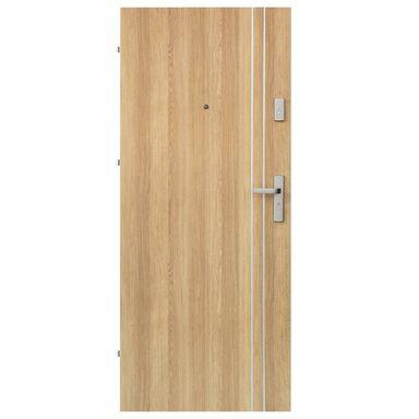 Drzwi zewnętrzne drewniane Iryd 01 dąb polski 90 Lewe Domidor