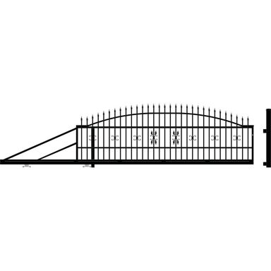 Brama przesuwna ELIZA III 410 x 144 cm lewa POLARGOS