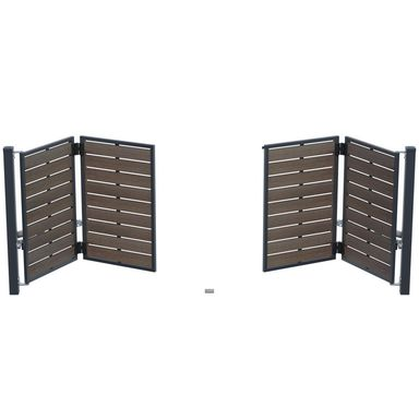 Brama uchylna łamana BURSZTYN 400 x 150 cm z automatem POLARGOS