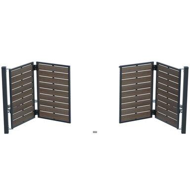 Brama uchylna łamana BURSZTYN 415 x 150 cm z automatem POLARGOS