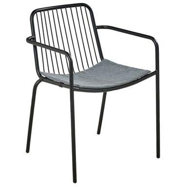 Krzesło ogrodowe ZOE stalowe czarne