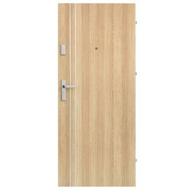 Drzwi wejściowe IRYD 01 Dąb polski 90 Prawe DOMIDOR