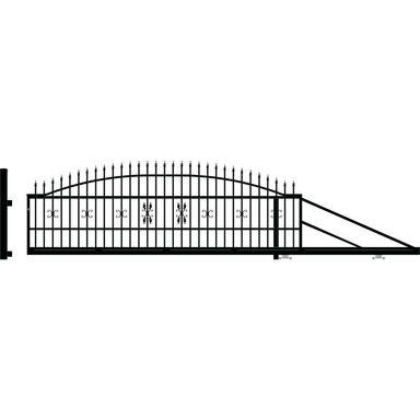 Brama przesuwna ELIZA III 410 x 144 cm Prawa POLARGOS