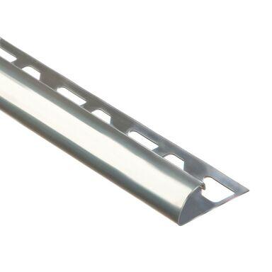 Profil do glaury zewnetrzny półokrągły 10 mm / 2.5 m Stal nierdzewna Standers