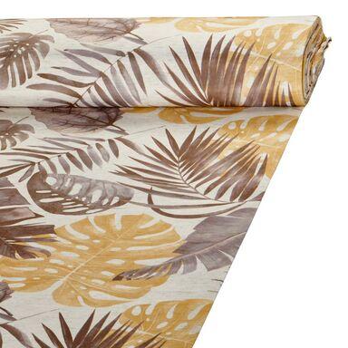 Tkanina zaciemniająca na mb EKWADOR szara w liście szer. 145 cm