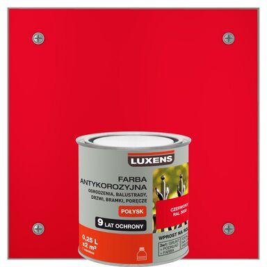 Farba antykorozyjna 0.25 l Czerwony Połysk LUXENS