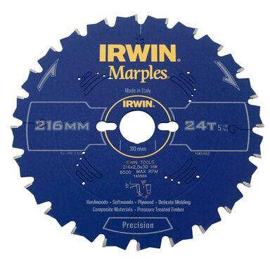 Tarcza do pilarki tarczowej 216MM/24T M/30  216 mm zęby: 24 szt. IRWIN MARPLES
