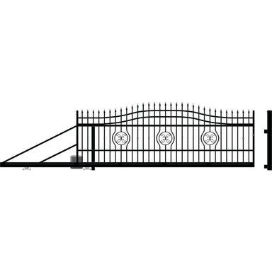 Brama przesuwna lewa z automatem MALAGA 3 400cm POLARGOS