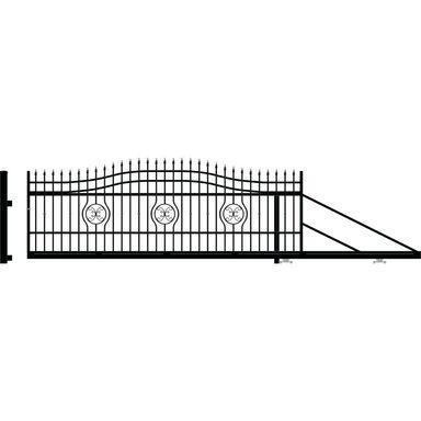 Brama przesuwna MALAGA III 400 x 154 cm prawa POLARGOS