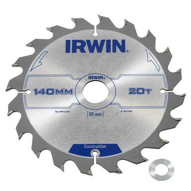 Tarcza do pilarki tarczowej 140MM/20T/20(16) śr. 140 mm  20 z IRWIN