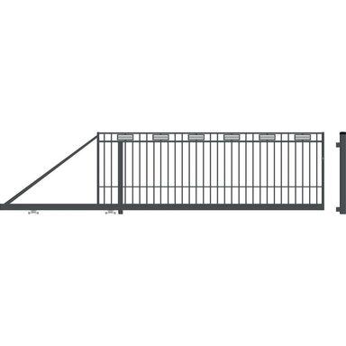 Brama przesuwna ARGOS 2 410 x 144 cm Lewa POLARGOS