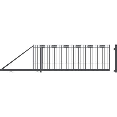 Brama przesuwna ARGOS II 410 x 144 cm lewa POLARGOS