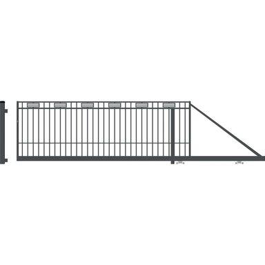 Brama przesuwna ARGOS 2 410 x 144 cm Prawa POLARGOS