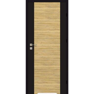 Skrzydło drzwiowe DUAL Czarny mat/Dąb bawarski 70 Prawe ARTENS