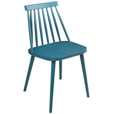 Krzesło ogrodowe OREBRO plastikowe niebieskie
