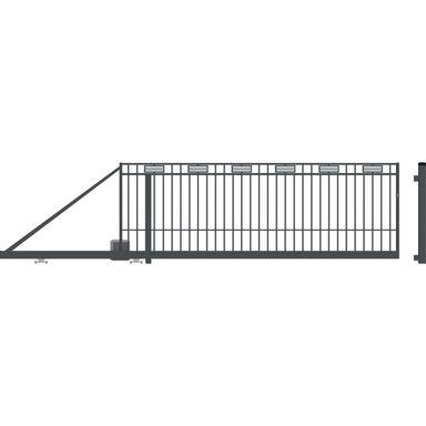 Brama przesuwna z automatem ARGOS II 400 x 144 cm lewa POLARGOS