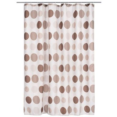 Zasłonka tekstylna CIRKLAR BRUN 180 x 200 cm DUSCHY