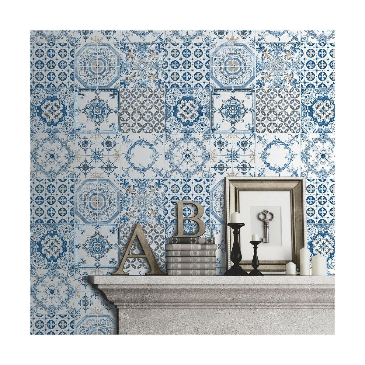 Tapeta spanish tiles tapety dekoracyjne w atrakcyjnej cenie w sklepach le - Smart tiles chez leroy merlin ...