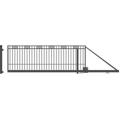 Brama przesuwna z automatem ARGOS 2 400 x 144 cm prawa POLARGOS