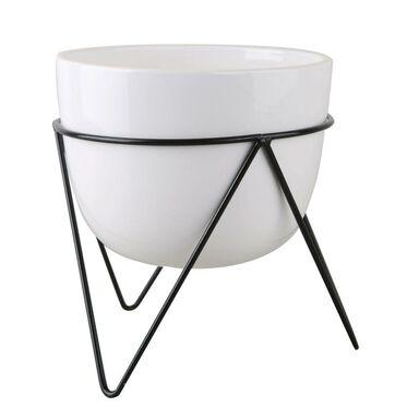 Osłonka na stojaku śr. 12.6 cm biała MODERN