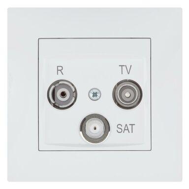 Gniazdo RTV / SAT końcowe CARLA  biały  ELEKTRO - PLAST