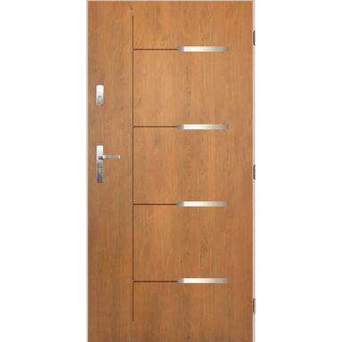 Drzwi wejściowe KRONOS 3 Dąb winchester 90 Prawe PANTOR