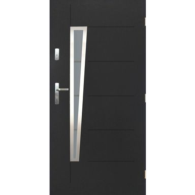 Drzwi zewnętrzne stalowe Marsylia antracyt 90 prawe Pantor