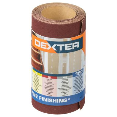 Papier ścierny ROLKA PAPIER P180 93 mm x 2.5 m DEXTER
