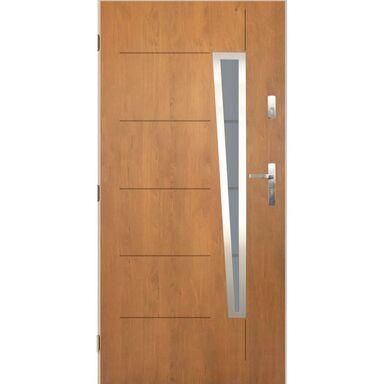 Drzwi zewnętrzne stalowe Marsylia dąb winchester 90 lewe Pantor