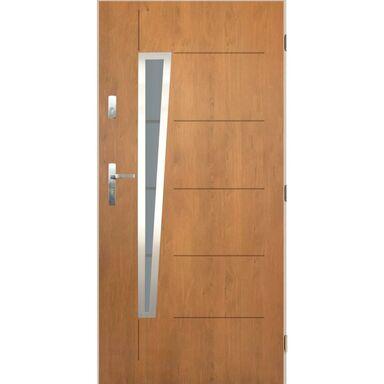 Drzwi zewnętrzne stalowe Marsylia dąb winchester 90 prawe Pantor